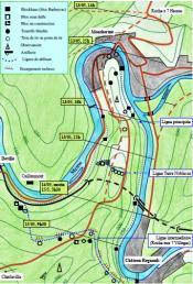 plan des défenses de l'isthme de Monthermé
