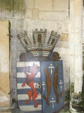 les armes de Marville : le lion luxembourgeois, et les 2 bars...de Bar