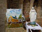le vitrail de Saint Julien et la Vierge